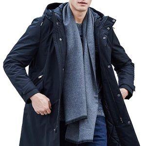 Men Waterproof Windproof Black Long Parka Jacket